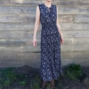 Old Navy | floral maxi peasant dress